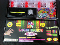 8-11 Years Multicolor Plastic AAA+ quality Rainbow loom rubber bands Bracelet loom kit Refill Twistz Band bracelet retail packaging (600loom+24S+1 hook) christmas gift