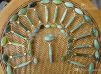 Sauna Therapy green jade - Head Massager Green jade massage head neck face foot roller tool