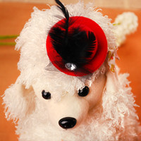 Wholesale Pet Accessories Cute Hat Design Hair Clip with Feather Pet Bobby Pin CL000