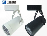 Wholesale LED Track lights W AC85 V led lamps spotlight Aluminum indoor lighting new track Celling light