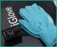 Wholesale IGLOVE Winter warm Screen touch gloves with High grade box capacitive screen conductive gloves Unisex for Iphone touch pairs