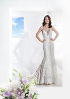 Cheap Trumpet/Mermaid Elegant Wedding Dresses Best Reference Images Halter Luxury Bridal Dresses