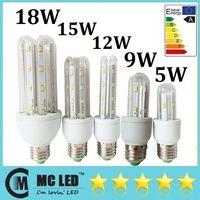 Wholesale 5W W W W W Led Light Bulbs E27 U U U Energy Saving Led Spotlights Lamp Warm Cool White V CE ROHS