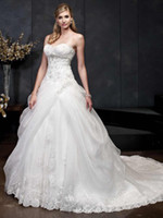 2015 Lovely Charming Wedding Dresses Sweetheart Lace Up Slee...