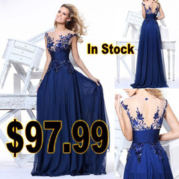 Wholesale 2014 Sample Order Latest Style Sexy Charming Elegant Sheer Backless A Line Prom Party Dresses Evening Gowns Lace Sequin Actual Image