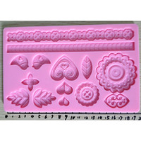 Wholesale Cake Tools Fondant Tools Silica Gel Embossing Mold Baking Tools High Quality