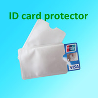 Card Holders Credit Card Silver 100pcs lot Anti Theft Credit Card Protector Aluminum RFID Blocking Secure Sleeve Protect your money and ID