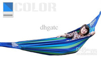 Wholesale Creative Parachute Cloth cm Double Hammock Tourism Camping Hunting Leisure Fabric Stripes