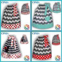 chevron dress - 03 DHL New Style Fashion Christmas Chevron Cotton Baby Girls Pillowcase Dress Assorted Designs