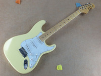 Wholesale new Classic ST models recess signature model fretboard bulk milk yellow color can change guitar