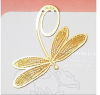 Wholesale Lovely dragonfly Metal steel bookmark Cute decorational book marks Lovely stationery MG