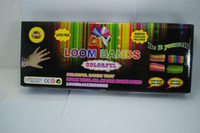 Wholesale Xmas Christmas Gift Rainbow loom rubber bands Bracelet loom kit Refill Twistz