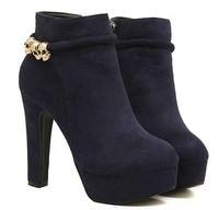 Wholesale 2013 winter boots thick high heeled platform boots scrub skull decoration boots martin boots bnc4