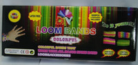 Wholesale Xmas Christmas Gift set rainbow loom kits rubber bands S Clips Christmas gift present DIY bracelets