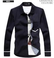 Casual casual shirts for men - NEW Men s casual Slim Long Sleeve Shirts Men s shirt Dress Shirts For Men Business Shirts C107