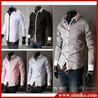 Wholesale New mens clothing long sleeve shirt men s casual shirts men formal wear M L XL XXL C033