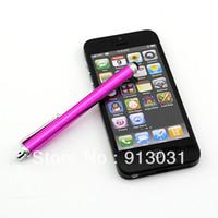 La pluma capacitiva universal del tacto de la aguja de la pantalla para el envío libre del teléfono móvil de la célula de la PC de la tableta de Iphone Ipad libera Shipping + Drop