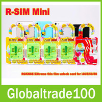 Wholesale R SIM Mini mm Unlock Thin Film Sim Unlock Card for iPhone S C S IOS