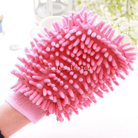 Gardening Cotton m new 5868 neil coral fleece double faced wipe car multifunctional clean gloves