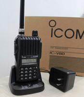 Wholesale ICOM V80E V80 mobile radio transceiver channels icom transceiver IC V80 IC V80E ham radio walkie talkie w mA battery