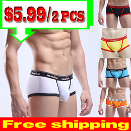 Wholesale Sexy Men s Cool Steel Men Male Underwear Boxer Briefs Trunk Cotton Underwears Men U Convex Pouch Brief Shorts YAHE MU1003B