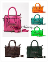 Wholesale 13111808 BB Girls Smily Handbag Kids PU Fashion Purse Lady Mini Bags Pure Color Metal Zip Sling Bags for Boutique
