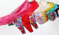 Women Cotton G-Strings & T-Back & Thongs Fashion PINK Panties Lace Cotton Panties T-Back Hipster Lace Trim Underpants Underwear Sexy G-string Thongs Knickers Lingerie Panty colorful