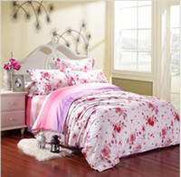 Wholesale Mendale bedding four cotton cotton pastoral satin reactive printing bedding large version suite4