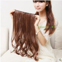 Wholesale A partial wig hair piece hair piece clip in five real shot