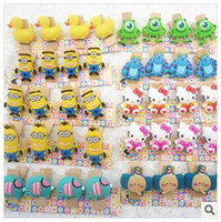 Wholesale Despicable Me Wood Note Clips Rubber Duck Cartoon Note Clips Bookmark Folde