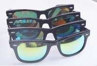 Wholesale Sunglasses new wave men women who sunglasses yurt anti uva way farer star models female models reflective color film EMS