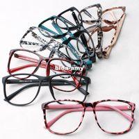 Wholesale Trendy Women leopard print glasses frame ultra light eyeglasses frame decorate eyes frame glasses without lens