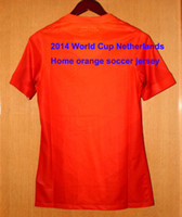 Wholesale world cup Netherlands home orange soccer jerseys Holland football jersey top thailand A soccer uniform