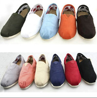 Wholesale New women s Classic Solid color canvas shoes casual Sequins flashing Flat shoes shoe pair