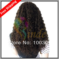 Wholesale Custom made Indian Remy Hair Deep Curl Silk top Full Lace Wig Free GIFT