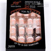 Full fake nails - Nall Tips Fake Nail New Full Cover False Nails boxs Acrylic Nail Supplies False nails With Glue box Pre Designed Nail