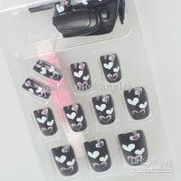 Wholesale boxs optional Acrylic Nail Art False Fake Nail Tips With Nail Glue box