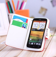 Wholesale 6Color High quality case for HTC T328W Desire V Desire X T328e PU Leather and sheepskin Multi function walle