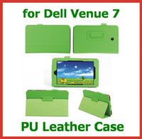 Wholesale 20pcs PU Leather Case for Dell Venue for inch Tablet PC Flip Case Skin Cover with Stand New Arrival
