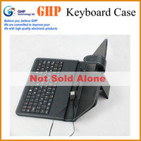 Wholesale Bundle Sale English Keyboard Case for inch tablet pc Micro USB with Stylus Pen not sell alone