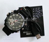 Wholesale Wristwatch spy Camera GB GB GB GB HD P Not Box IR Night Vision Waterproof Watch DVR Recorder