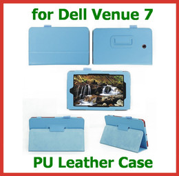 Wholesale 50pcs PU Leather Case for Dell Venue for inch Tablet PC Flip Case Skin Cover with Stand