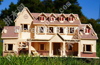 Wholesale 3D puzzle wood DIY wooden model toy miniature doll Children kids toys cottage country house Represents villadom