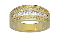 Wholesale Unique Ctw Natural Diamond Jewelry K Yellow Gold Mens Ring Engagement Band