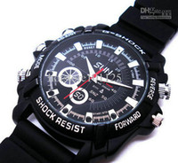 Wholesale Hot GB spy Watch Camera IR Night Vision HD P Wristwatch W1000