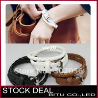 Wholesale 200pcs PU imitate leather bracelet belt BR002