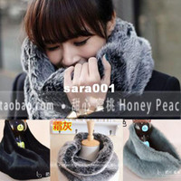Coats rex rabbit scarf - coats Large faux fur collar scarf muffler faux set male women s thermal collars rex rabbit scarf
