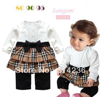 Wholesale 2013 Latest styles baby boy girl plaid rompers kids Interstellar lovely princess brand name clothing