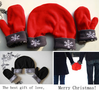 Wholesale HOT Lovers Gloves Mittens Warm Winter Sweethearts Outfit Christmas Gift