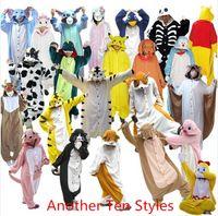 Wholesale Extra Styles Kigurumi Pajamas All in One Pyjama Animal Suits Sleepwear Cosplay Costumes Adult Garment Flannel Cute Cartoon Animal Onesies